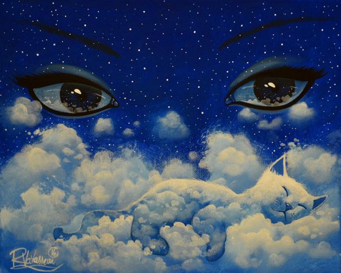 [ARTE] Artista retrata o universo dos gatos em pinturas incríveis