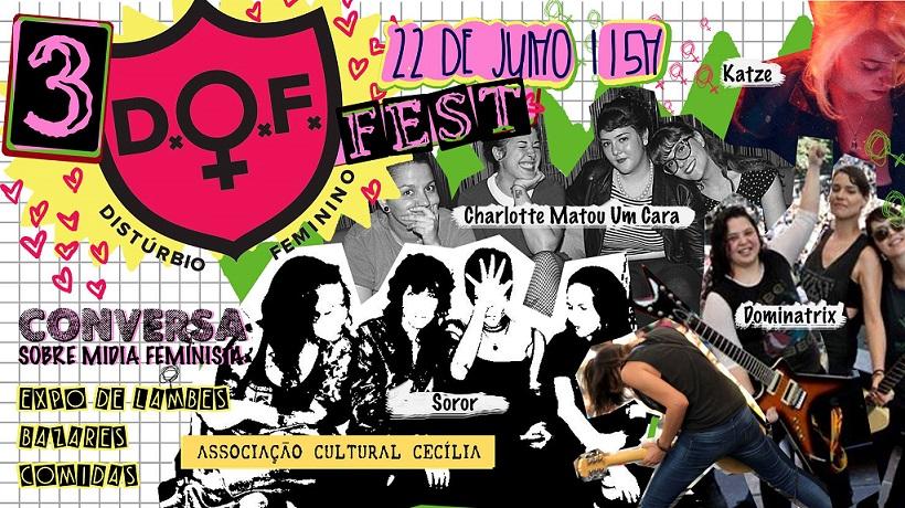 [EVENTO] 3° Distúrbio Feminino Fest: Festival feminista promove produção artística feminina em SP