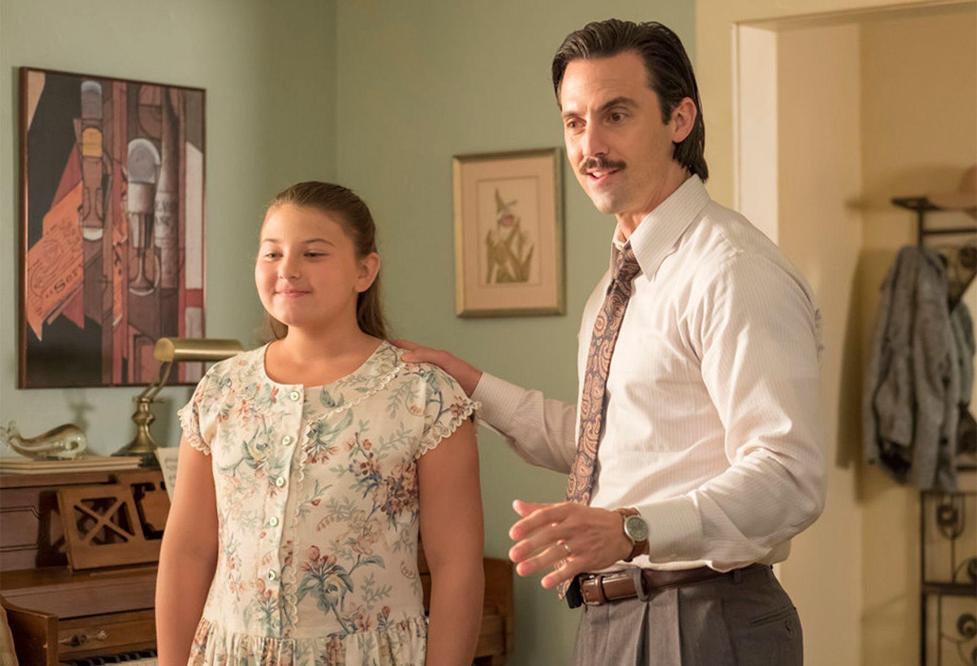 Kate (Mackenzie Hancsicsak) e Jack (Milo Ventimiglia)