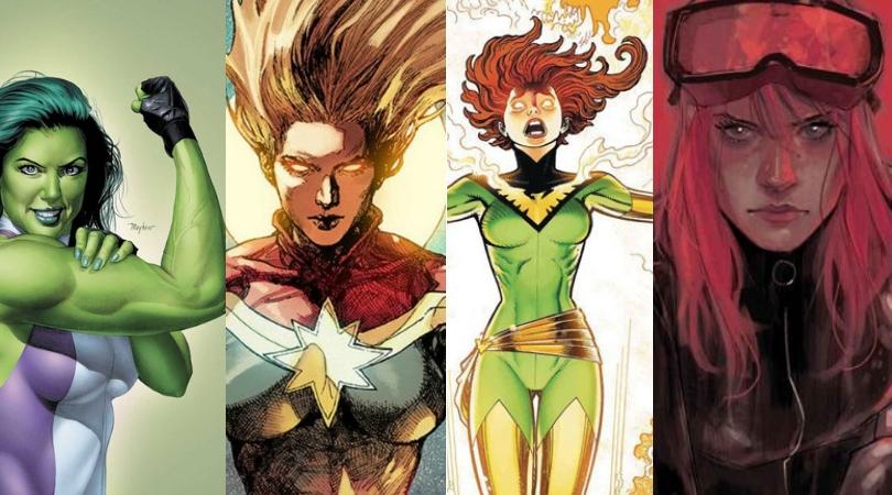 As principais personagens femininas da Marvel