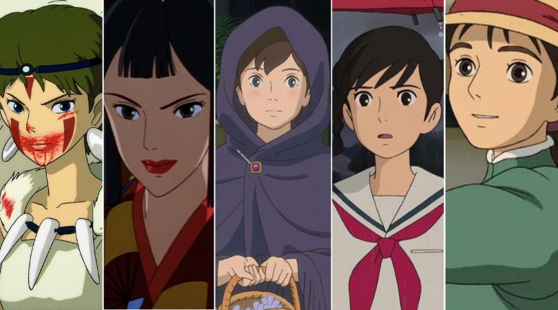 As personagens femininas da Ghibli: Mononoke, Lady Ebochi, Anna, Umi e Sophie