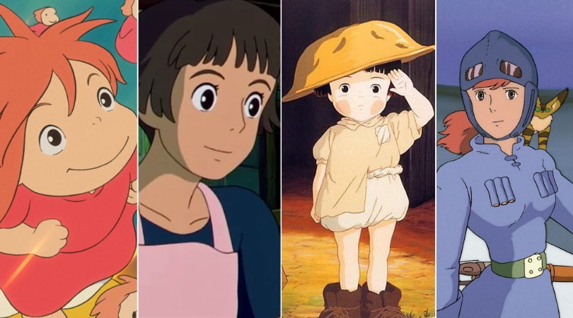 As personagens femininas da Ghibli: Lisa, Ponyo, Setsuko e Nausicaä