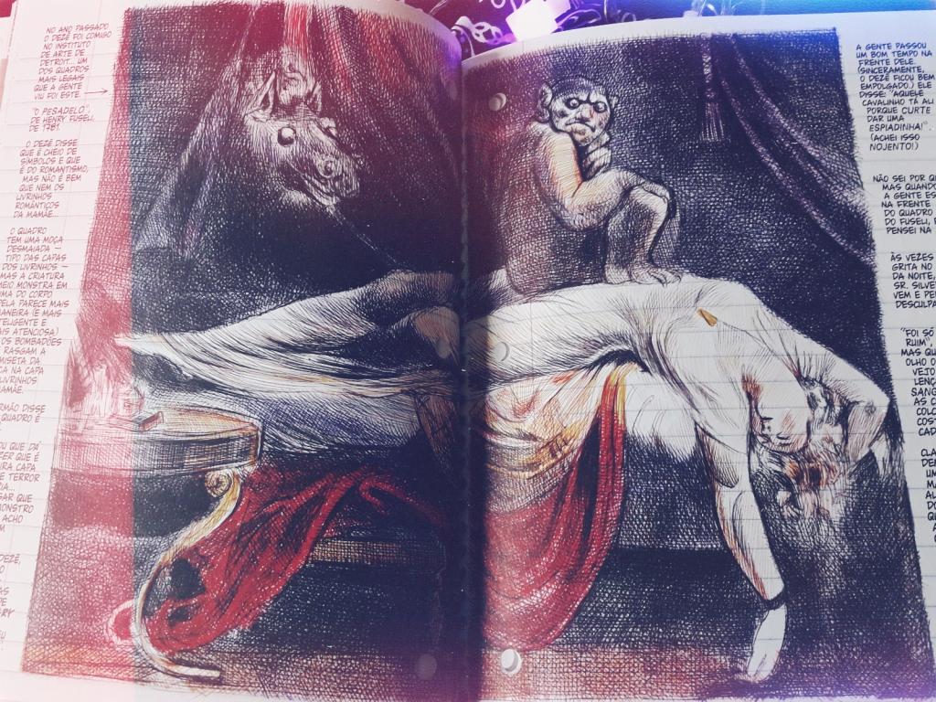 """Réplica da pintura """"O Pesadelo"""", de Johann Heirich Füssli, em """"Minha Coisa Favorita é Monstro"""""""
