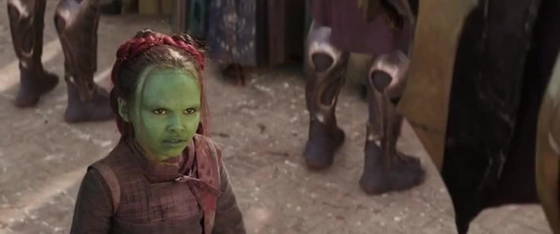 Gamora criança