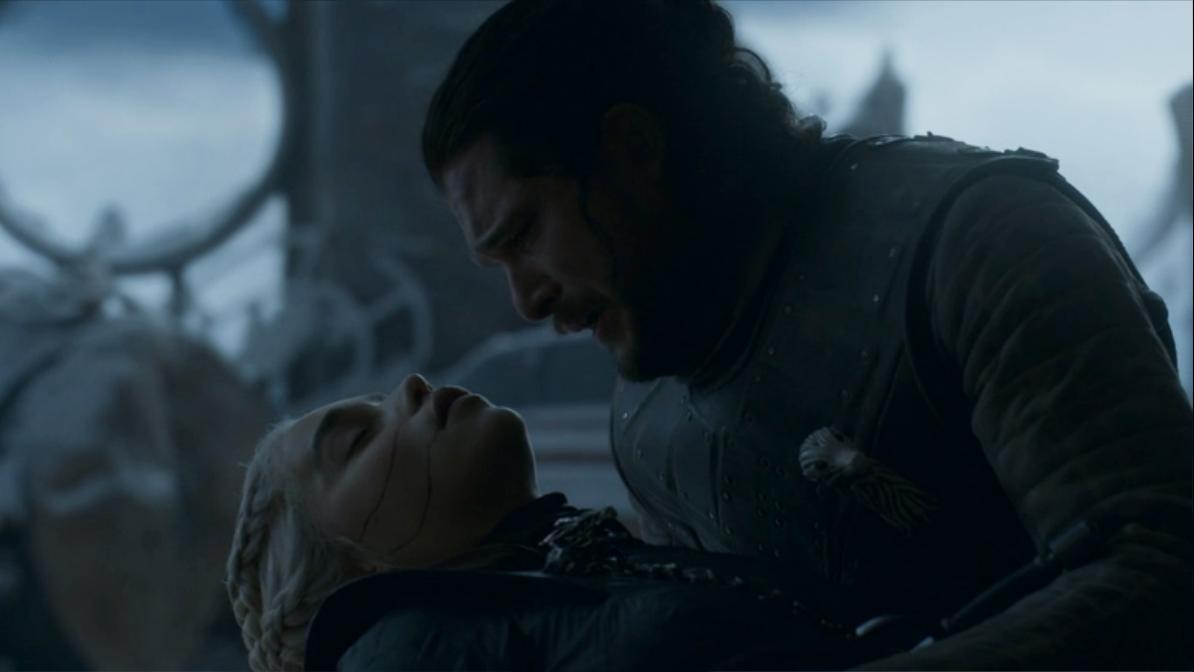 Jon Snow (Kit Harrington) e Daenerys Targaryen (Emilia Clarke)