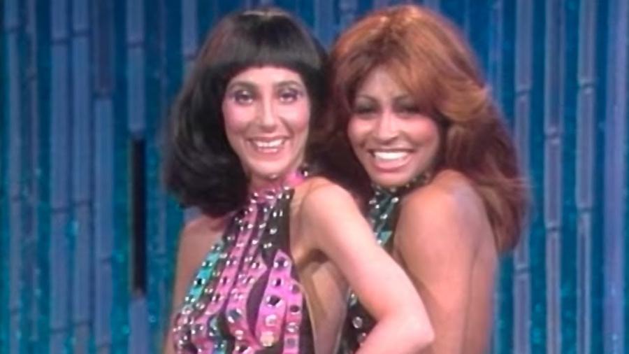 Cher e Tina Turner no Live on The Cher Show, 1975