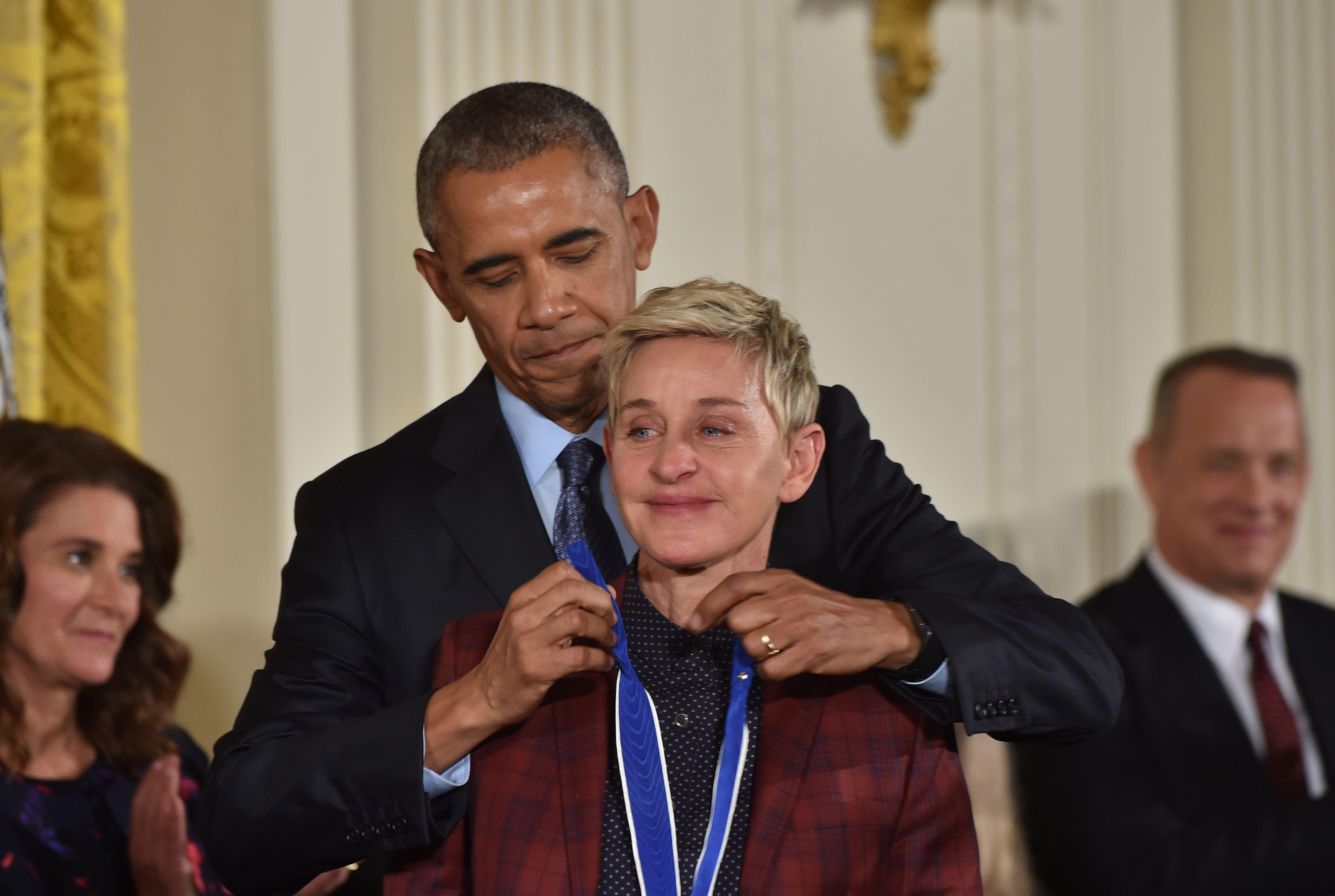 Ellen DeGeneres e Barack Obama
