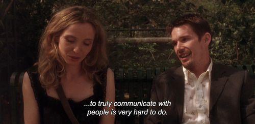 Celine e Jesse na Trilogia do Antes