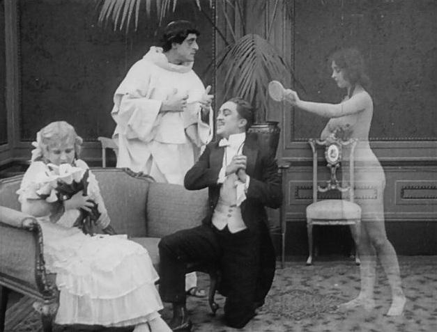 """A """"verdade nua"""" em uma cena de Hypocrites (1915)."""