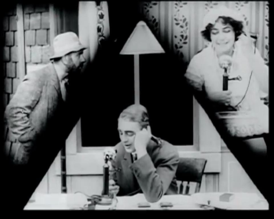 Técnica de split-screen em uma cena de Suspense (1913) - Lois Weber