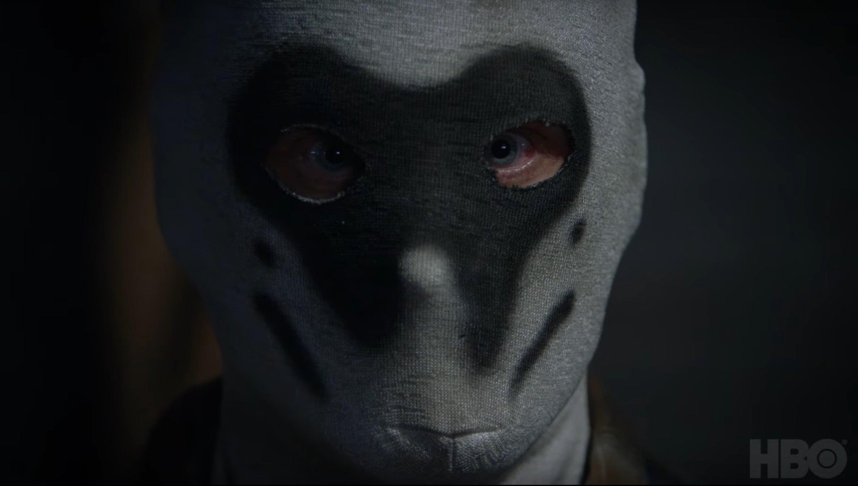 Supremacista branco com a máscara do Rorschach