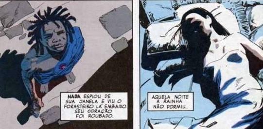 Rainha Nada e Sonho em Sandman, de Neil Gaiman