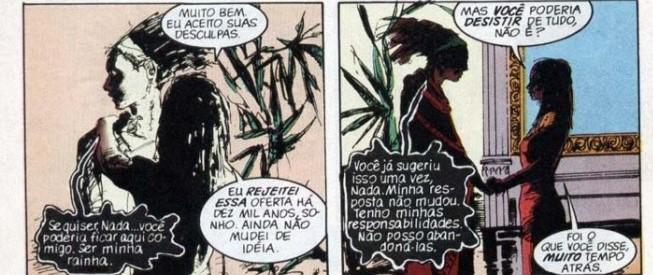 """Rainha Nada e Sonho em """"Sandman""""- romantização de amor tóxico"""
