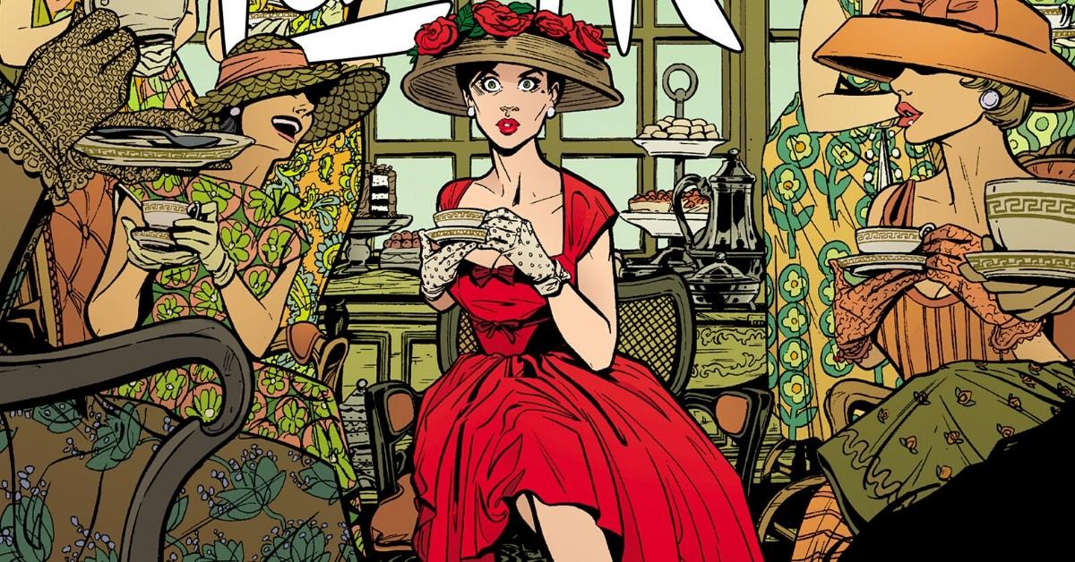 """Josie Schuller em """"Lady Killer"""", quadrinho criado por Joëlle Jones e lançado no Brasil pela Darkside Books."""