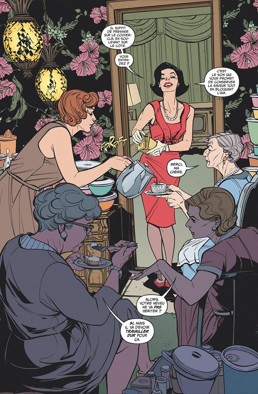 """Cena (em inglês) do início do segundo volume de """"Lady Killer""""."""
