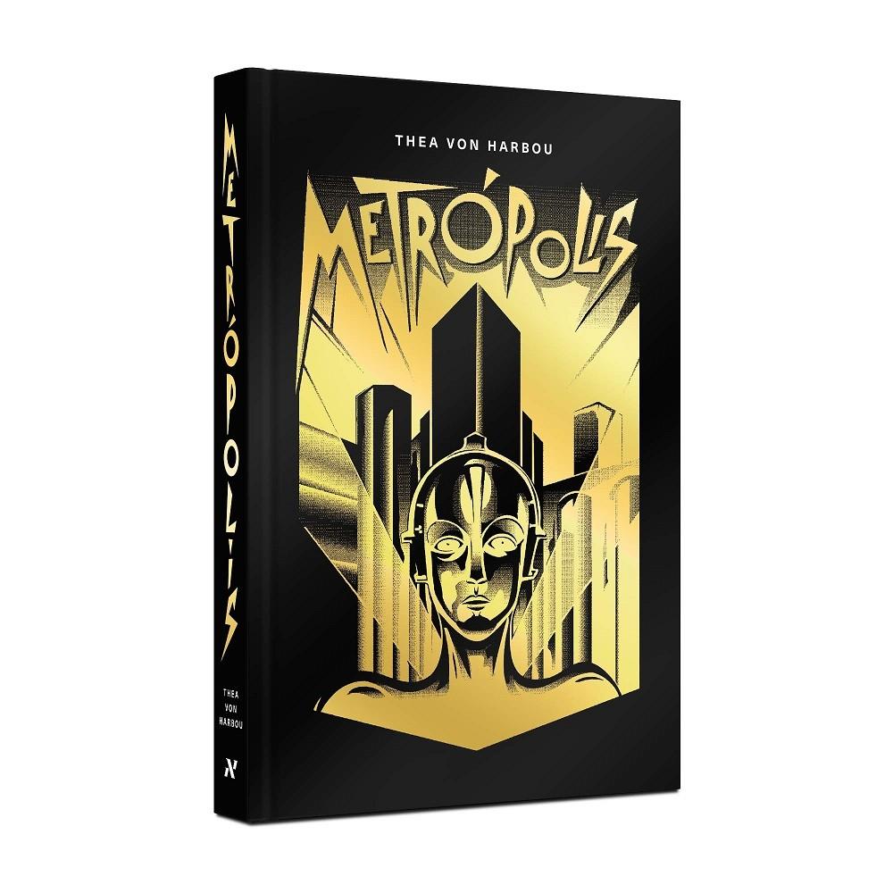 """Edição de """"Metrópolis"""", livro de Thea von Harbou, publicada pela editora Aleph."""
