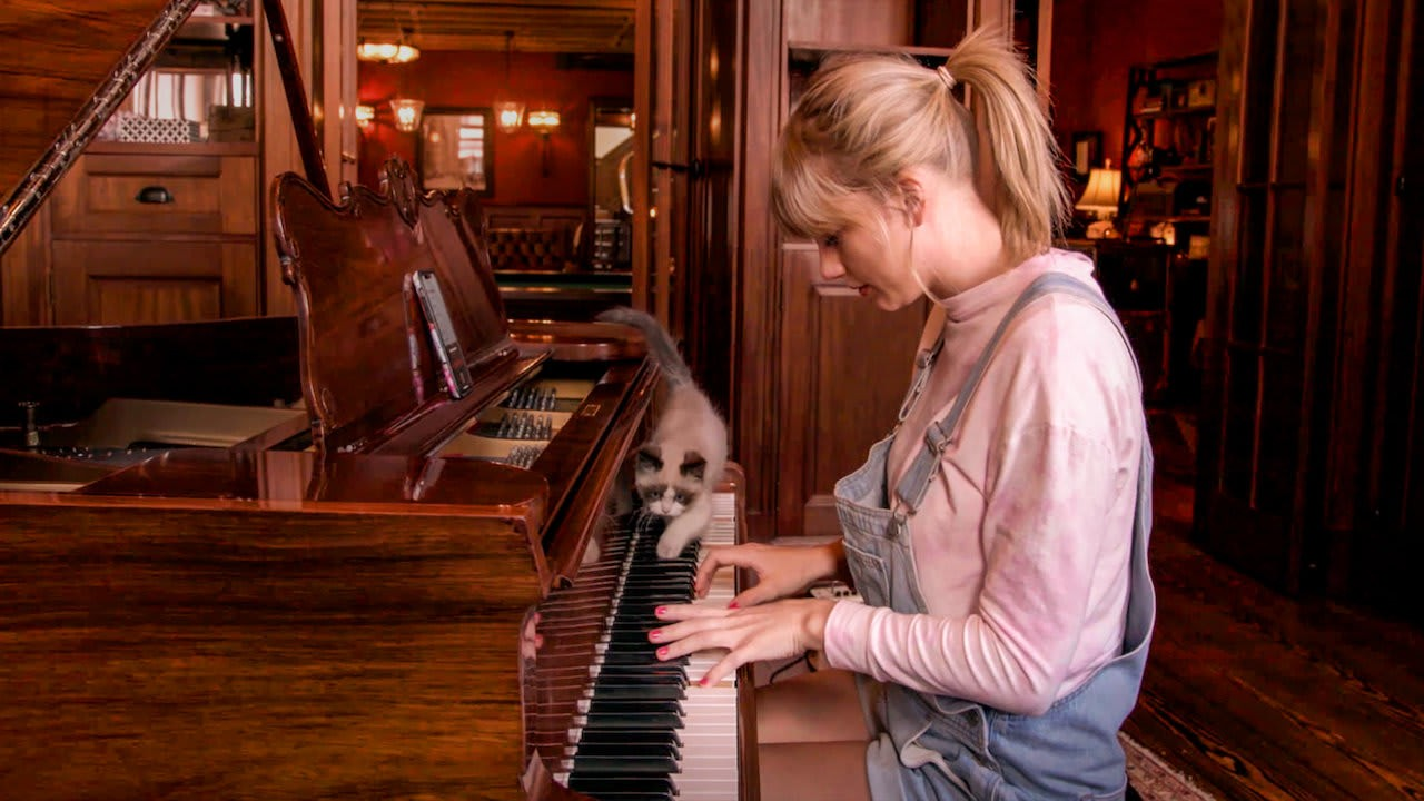"Taylor Swift no documentário ""Miss Americana""."