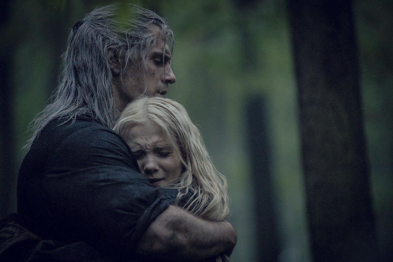 Geralt de Rívia e Ciri na season finale