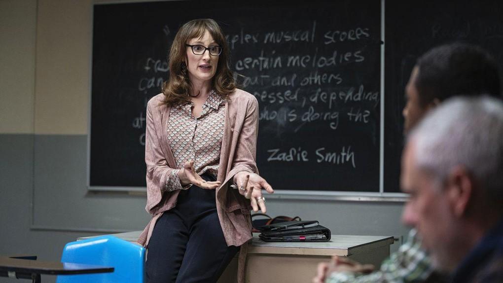 "Jen Richards como Margot Fairchild em ""Mrs. Fletcher"""