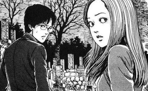 Shuichi e Kirie no mangá Uzumaki