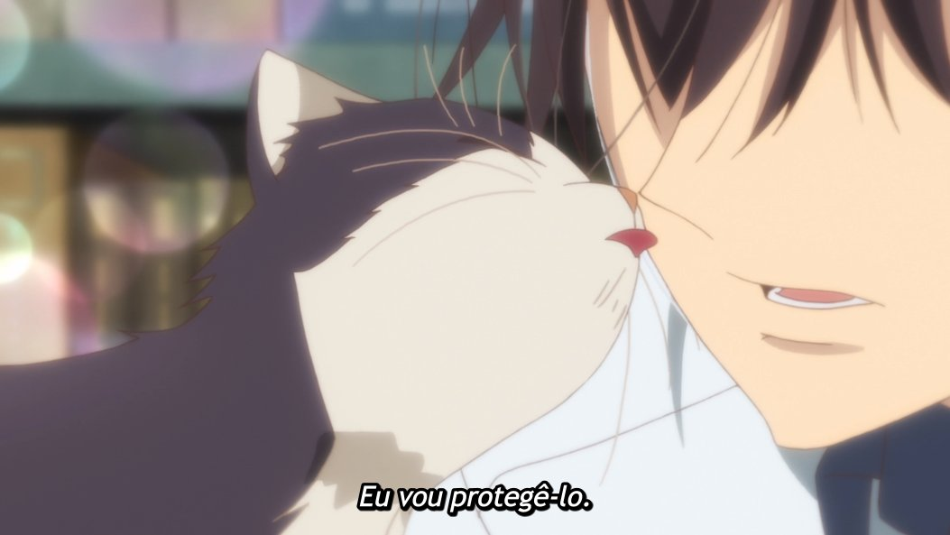 "Subaru e Haru em cena de ""My Roommate is a Cat""."