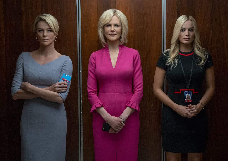 "Charlize Theron, Nicole Kidman e Margot Robbie em cena de ""Bombshell""."