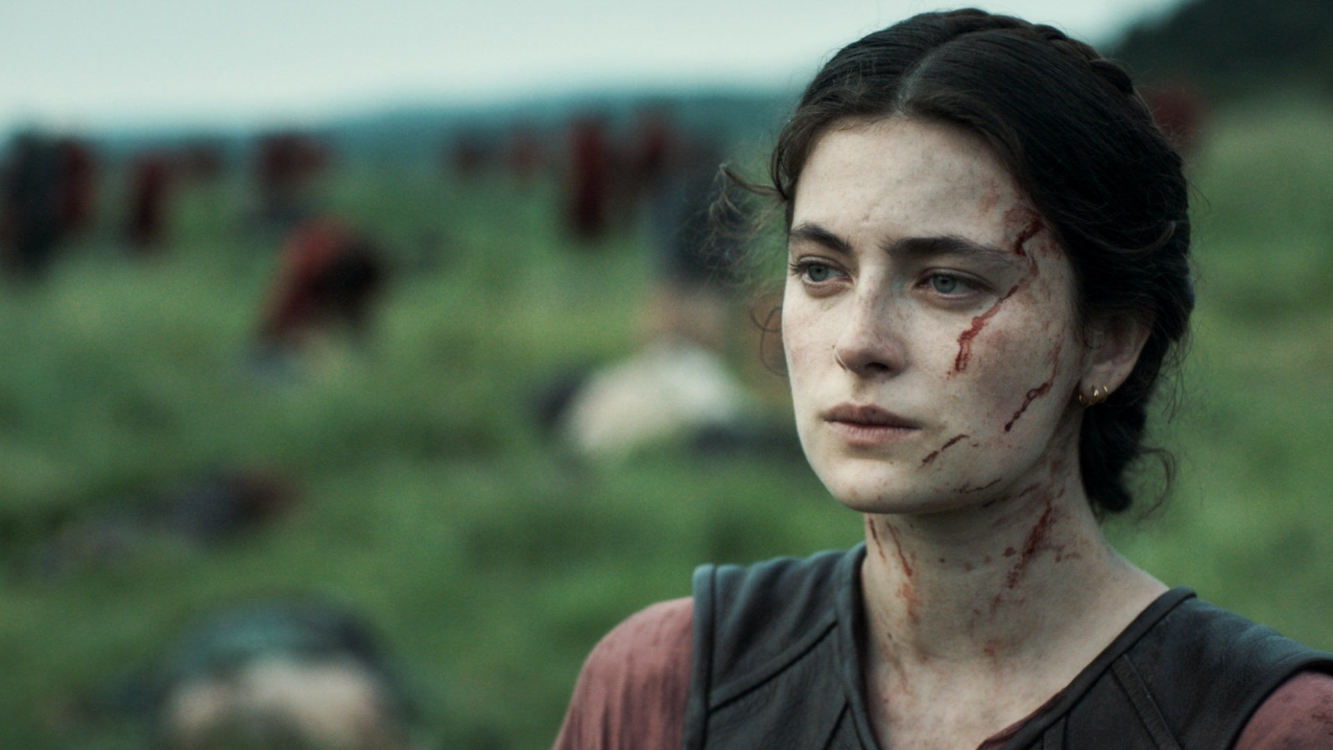 Aethelflaed (Millie Brady) em The Last Kingdom.