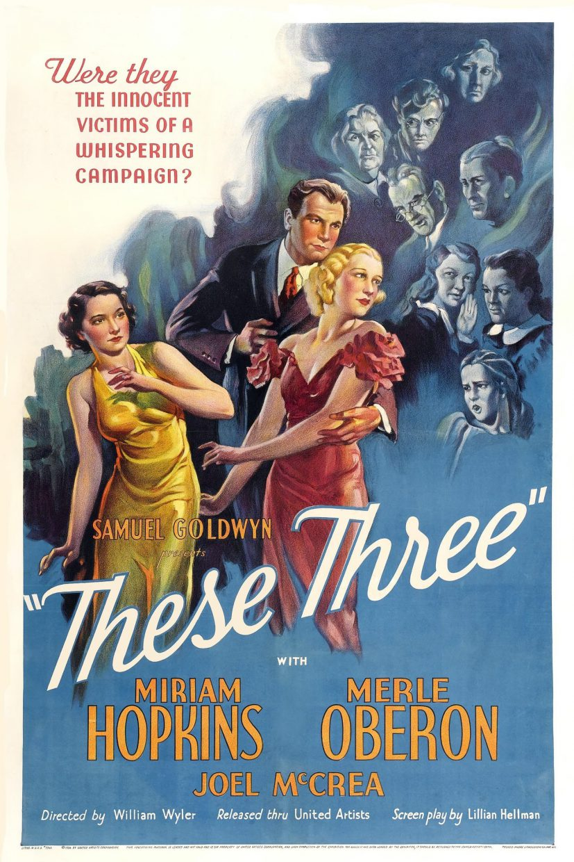 """Poster de """"These Three"""" (1936)"""