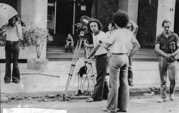 Adélia Sampaio nas filmagens.