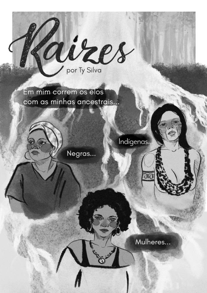 """A história sobre sua ancestralidade publicada no livro """"Mulheres & Quadrinhos"""" (Skript) é um dos trabalhos mais queridos por Ty Silva."""