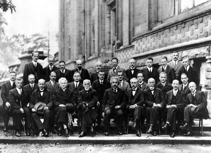 Marie Curie na Conferência de Solvay de 1927