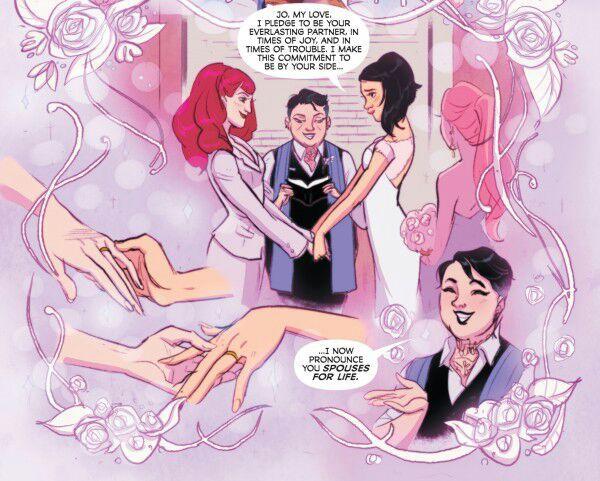 """O casamento de Alysia e Jo fica registrado na """"Batgirl #45"""""""