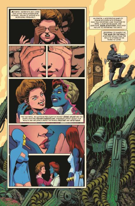 Mística e Sina são um dos casais homoafetivos mais antigos da Marvel.