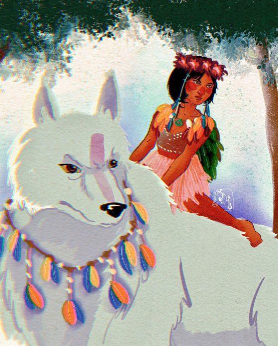 Princesa Mononoke pelo traço de Ty Silva