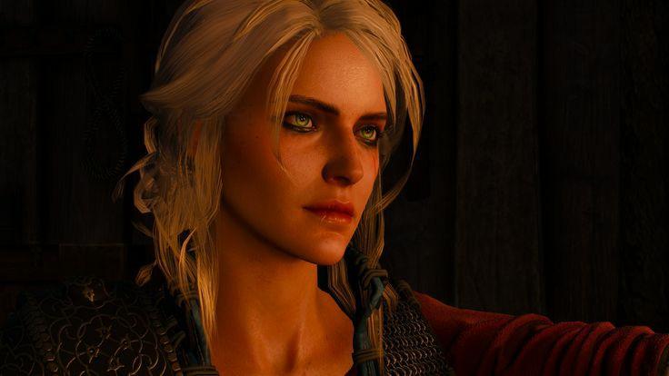 Ciri nos jogos de The Witcher. Imagem: reprodução