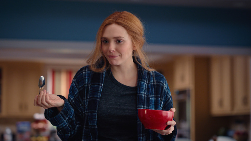 Wanda Maximoff (Elizabeth Olsen) no sétimo episódio de WandaVision.