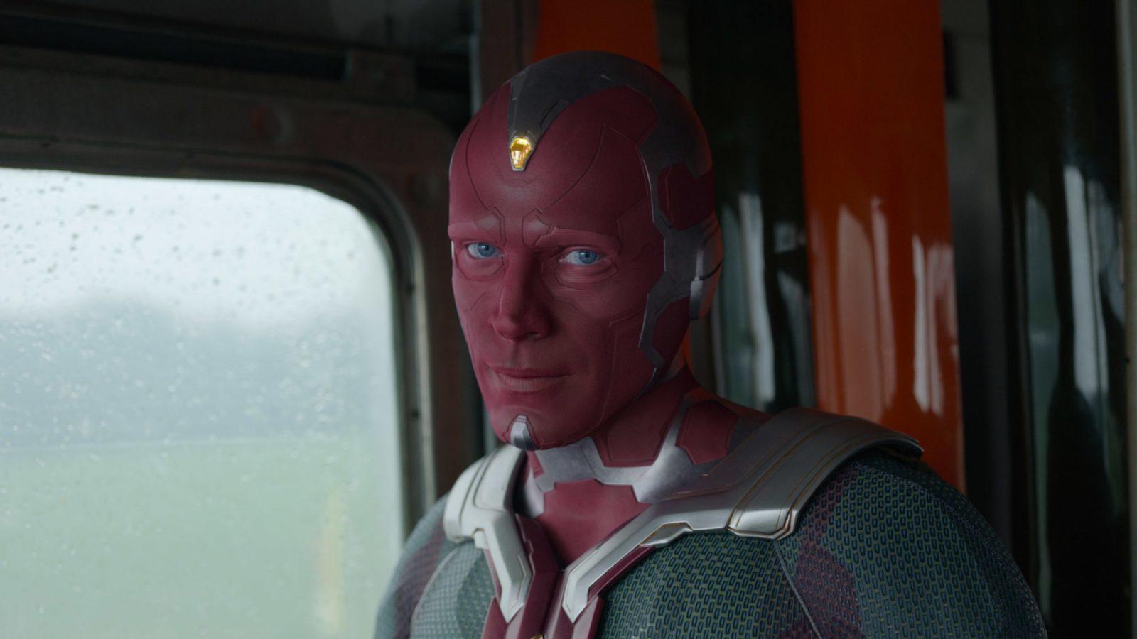 Visão (Paul Bettany) bancando o Jim (The Office) no sétimo episódio de WandaVision.