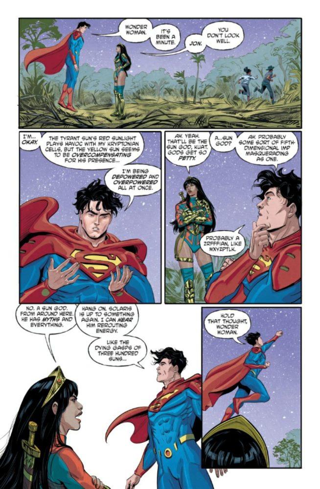 Yara Flor aparece ao lado de Jon Kent, filho do Superman, em DC Future State: Superman/Wonder Woman #1