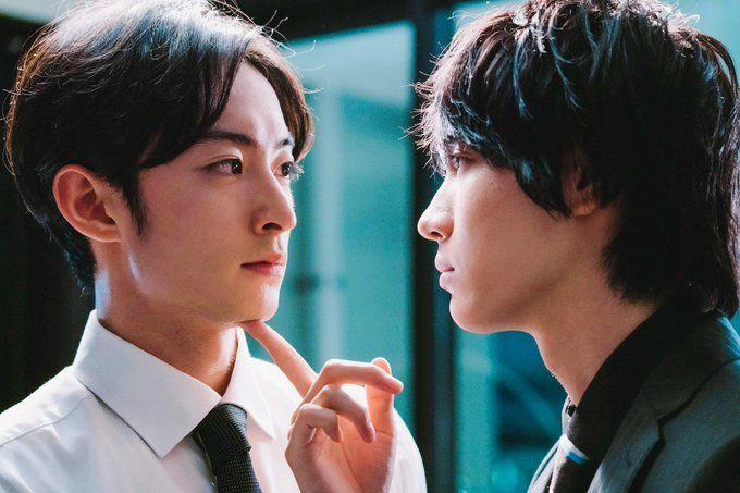 Yuki (Hama Shogo) e Sr. Fukami (Sakurada Dori) em Café e Baunilha