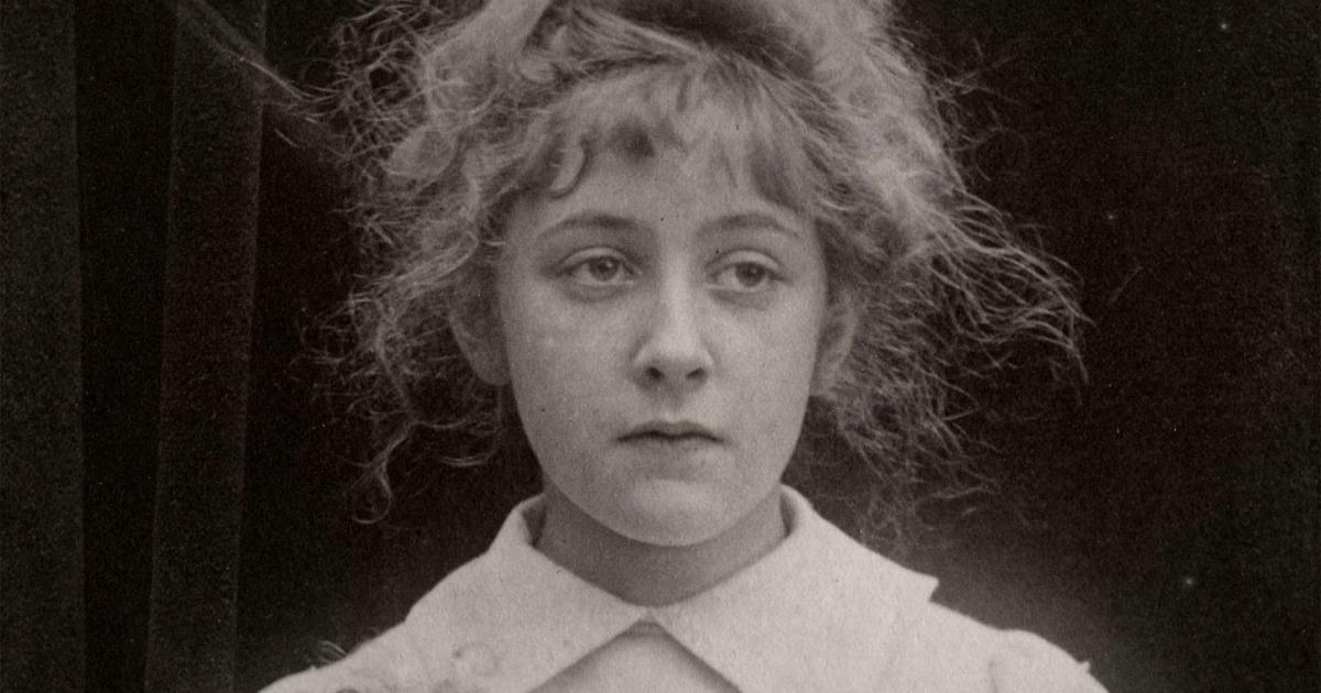 Agatha Christie jovem.