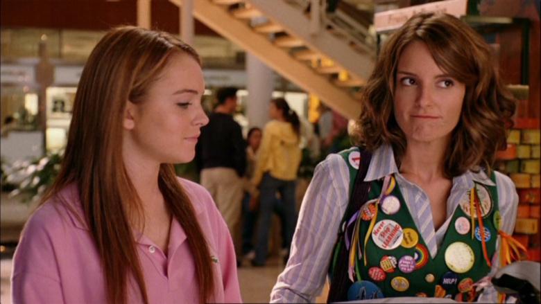 Cady e sua professora de matemática (Tina Fey) em Meninas Malvadas.