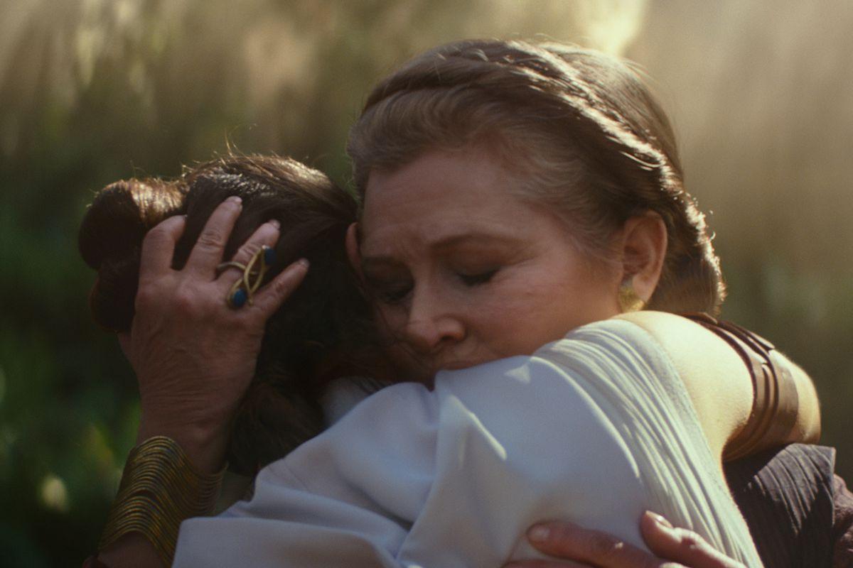 Leia e Rey em Star Wars
