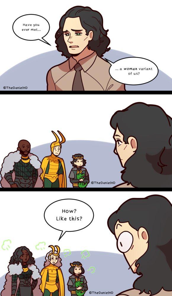 Tirinha de Loki sobre representação feminina